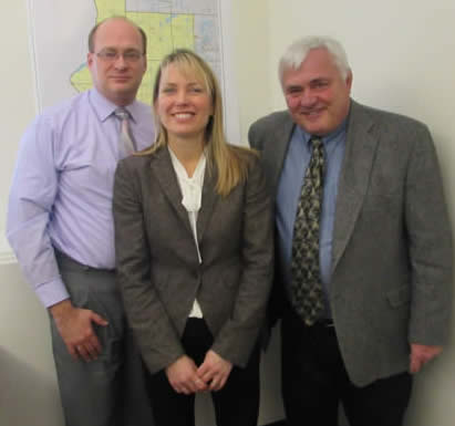 Minn CAP Pam Johnson, Rep Jeff Backer, and WCMCA Executive Director Steve Nagle