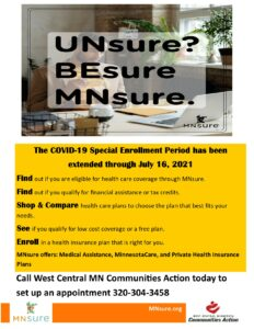 MNSure Special Enrollment Extended