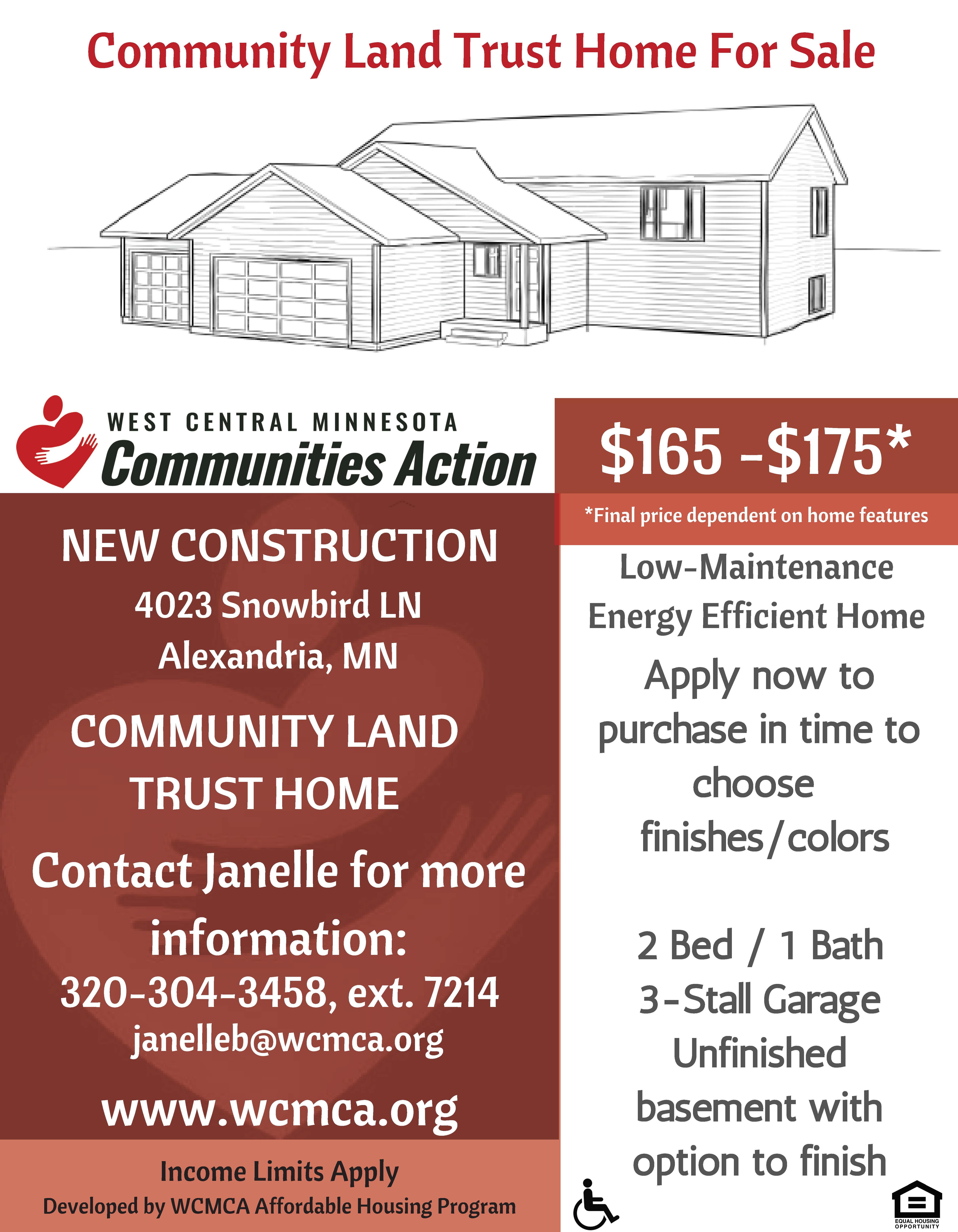 Community Land Trust, 4023 Snowbird Lane, Alexandria