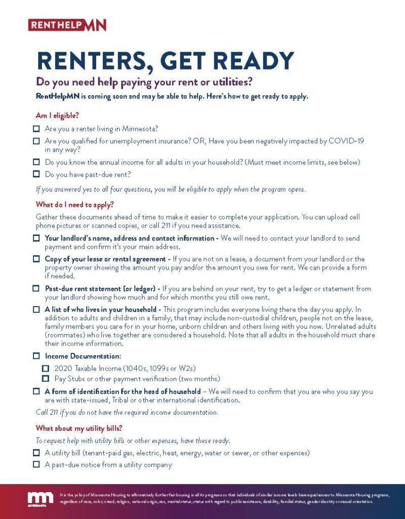 RentHelpMN - Tenant Info